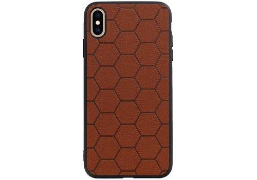 Hexagon Hard Case voor iPhone XS Max Bruin