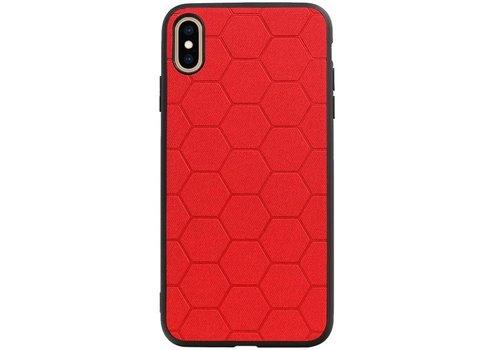 Hexagon Hard Case voor iPhone XS Max Rood