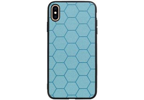 Hexagon Hard Case voor iPhone XS Max Blauw