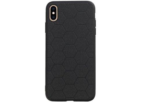 Hexagon Hard Case voor iPhone XS Max Zwart
