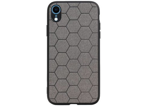 Hexagon Hard Case voor iPhone XR Grijs
