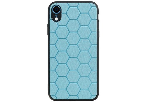 Hexagon Hard Case voor iPhone XR Blauw