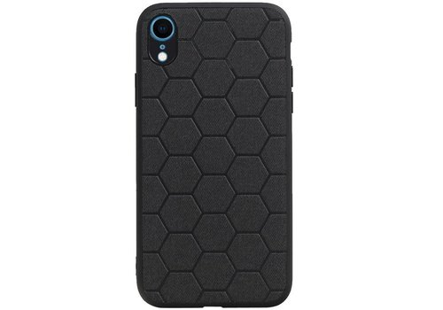 Hexagon Hard Case voor iPhone XR Zwart