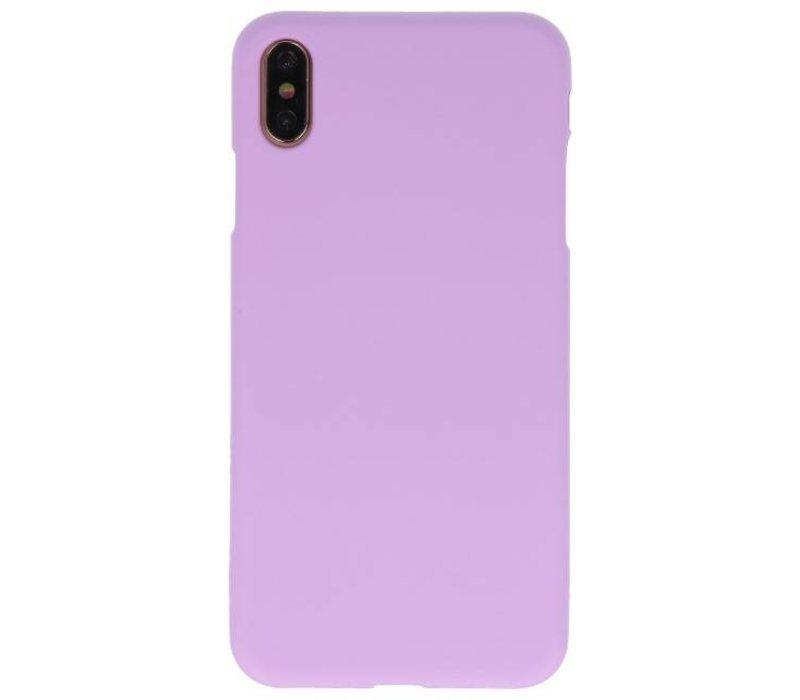 Color TPU Hoesje voor iPhone XS Max Paars