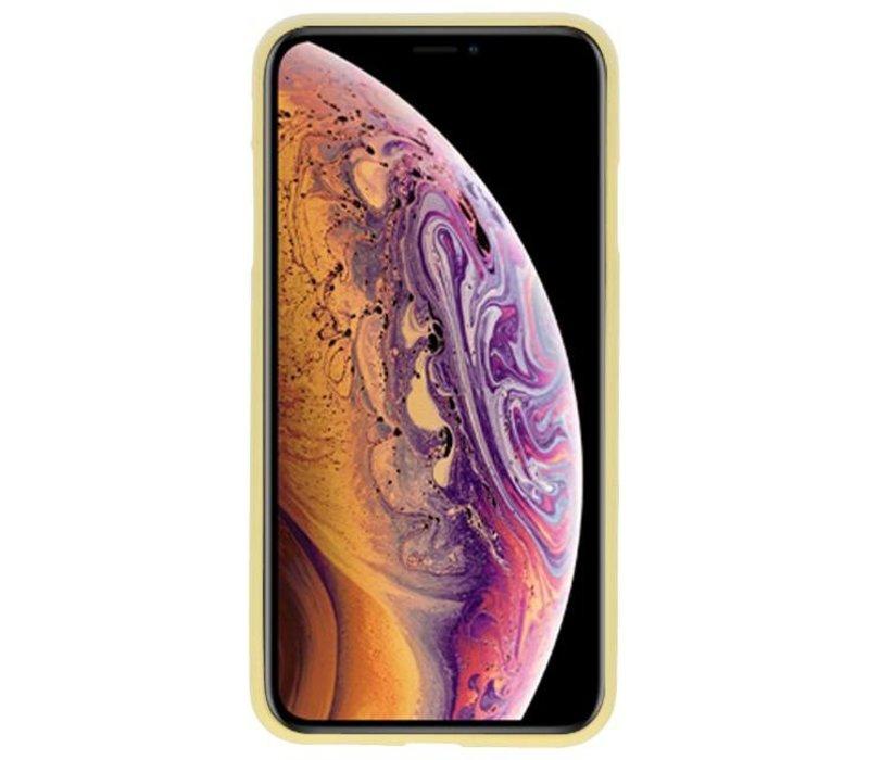 Color TPU Hoesje voor iPhone XS Max Geel