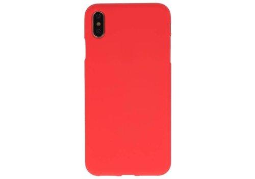 Color TPU Hoesje voor iPhone XS Max Rood