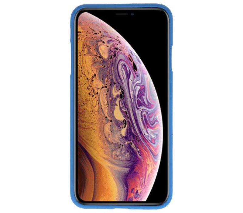 Color TPU Hoesje voor iPhone XS Max Navy