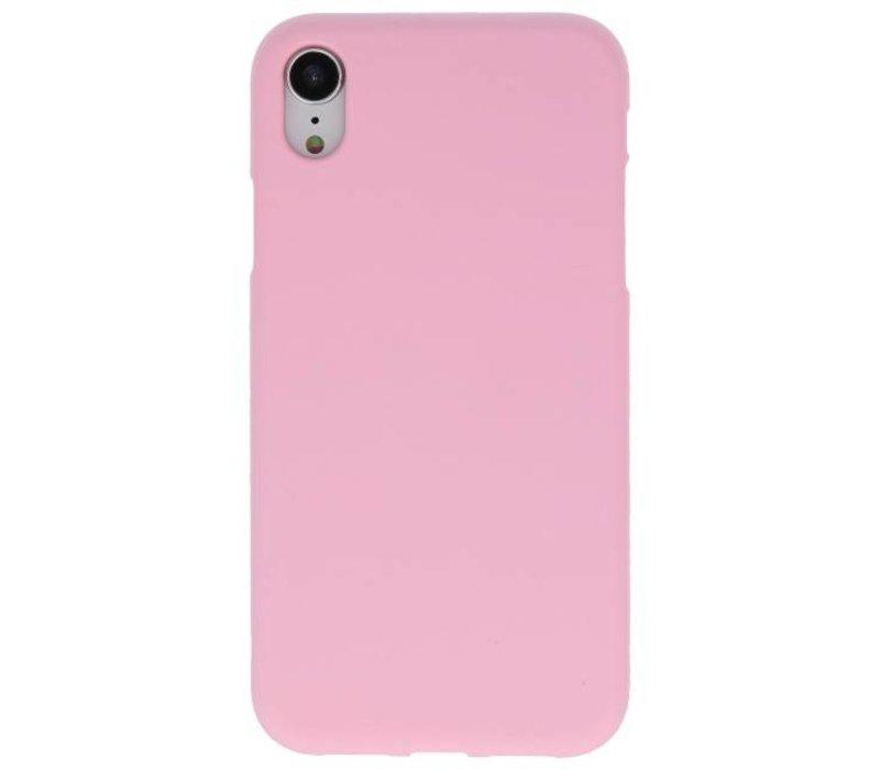 Color TPU Hoesje voor iPhone XR Roze