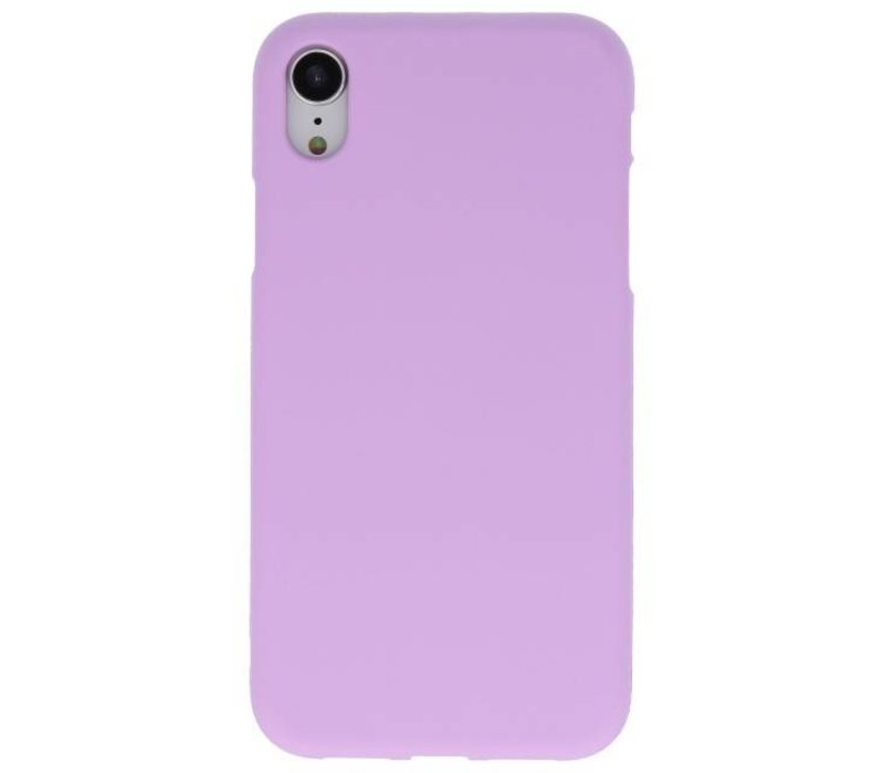 Color TPU Hoesje voor iPhone XR Paars