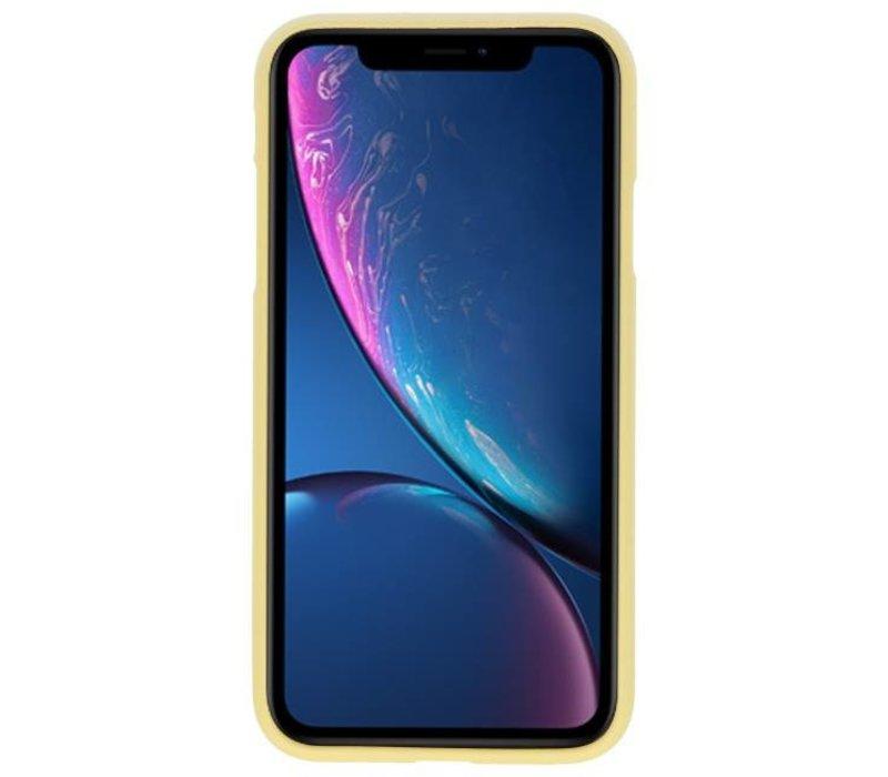 Color TPU Hoesje voor iPhone XR Geel