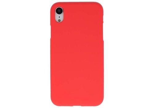 Color TPU Hoesje voor iPhone XR Rood