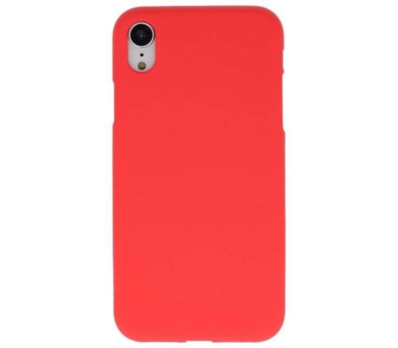 Color TPU Hoesje voor iPhone XR Rood