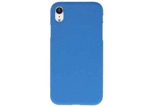 Color TPU Hoesje voor iPhone XR Navy