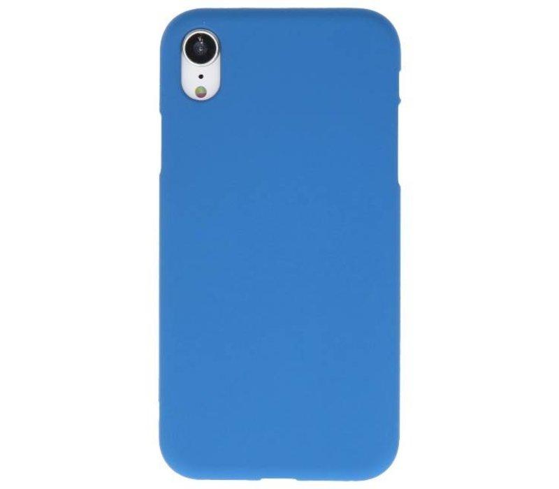 Color TPU Hoesje voor iPhone XR Navy