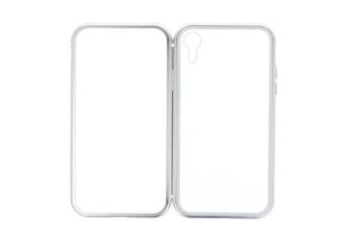 Magnetic Back Cover voor iPhone XR Zilver - Transparant