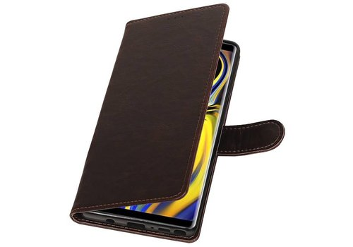 Pull Up Bookstyle voor Samsung Galaxy Note 9 Mocca