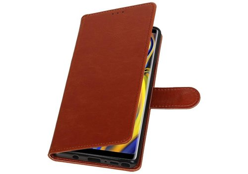 Pull Up Bookstyle voor Samsung Galaxy Note 9 Bruin