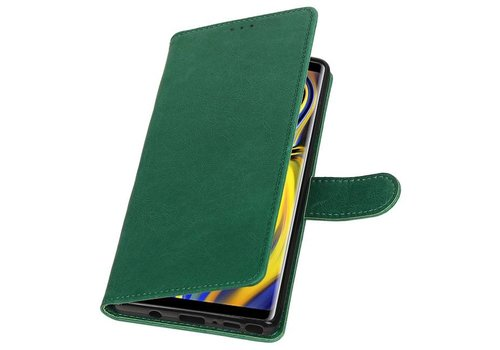 Pull Up Bookstyle voor Samsung Galaxy Note 9 Groen