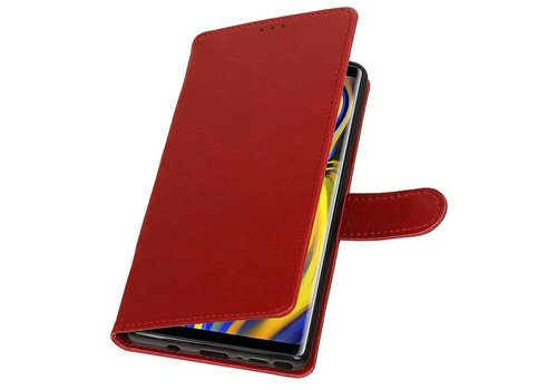 Pull Up Bookstyle voor Samsung Galaxy Note 9 Rood