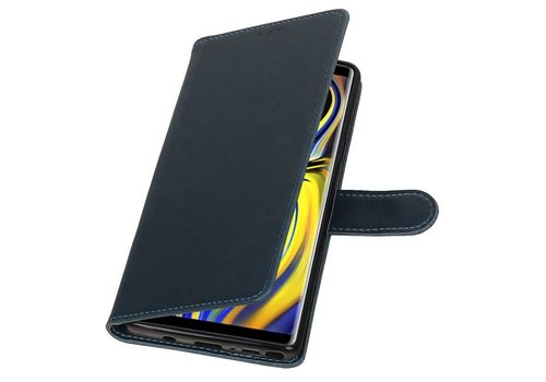 Pull Up Bookstyle voor Samsung Galaxy Note 9 Blauw