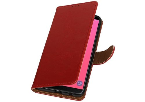 Pull Up Bookstyle voor Samsung Galaxy J8 Rood