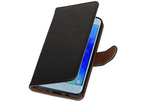 Pull Up Bookstyle voor Samsung Galaxy J4 2018 Zwart