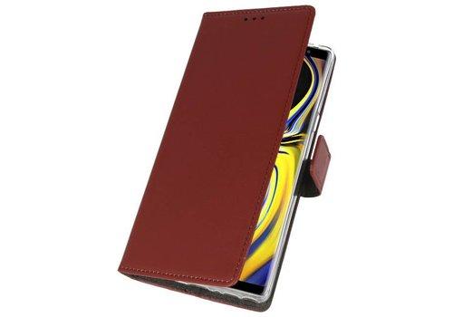 Wallet Cases Hoesje voor Galaxy Note 9 Bruin
