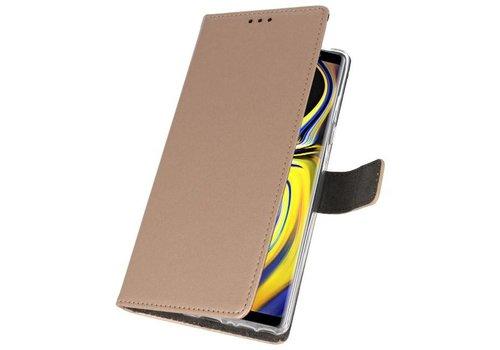 Wallet Cases Hoesje voor Galaxy Note 9 Goud
