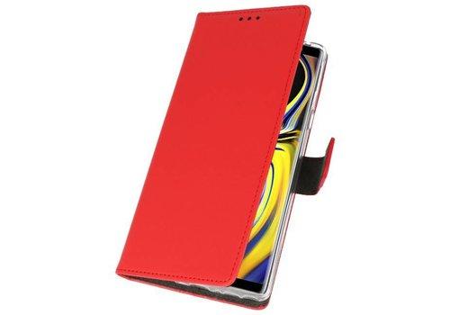 Wallet Cases Hoesje voor Galaxy Note 9 Rood
