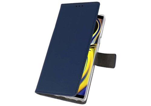 Wallet Cases Hoesje voor Galaxy Note 9 Navy