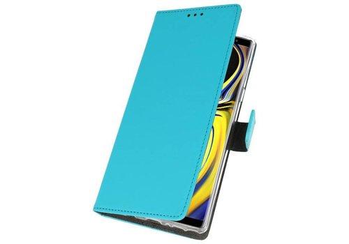 Wallet Cases Hoesje voor Galaxy Note 9 Blauw