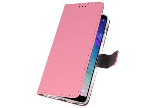 Wallet Cases Hoesje voor Galaxy A6 Plus (2018) Roze