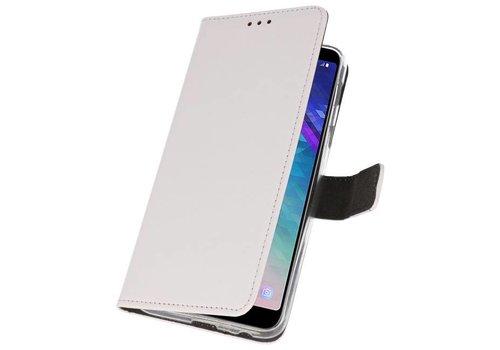 Wallet Cases Hoesje voor Galaxy A6 Plus (2018) Wit