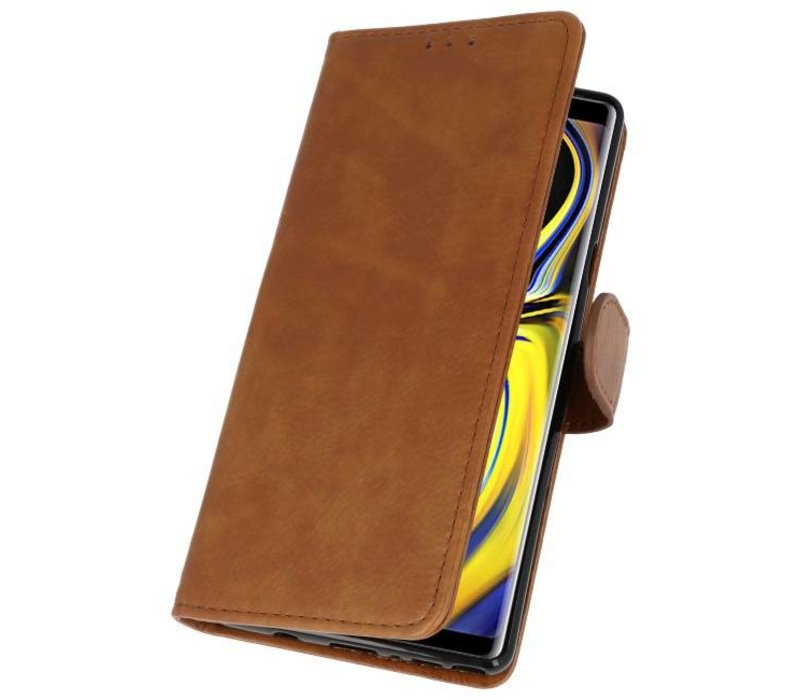 Bookstyle Wallet Cases Hoes voor Galaxy Note 9 Bruin