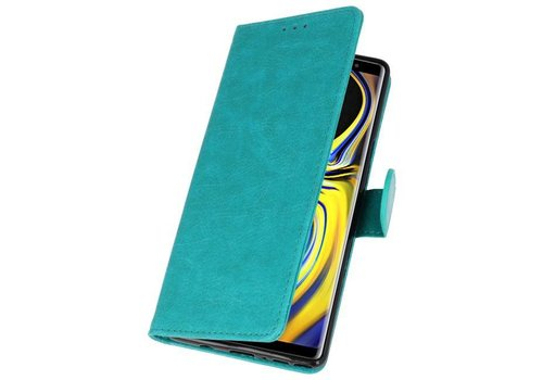 Bookstyle Wallet Cases Hoes voor Galaxy Note 9 Groen