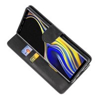Bookstyle Wallet Cases Hoes voor Galaxy Note 9 Zwart