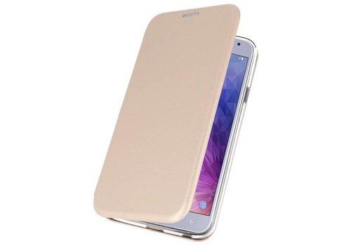 Slim Folio Case voor Galaxy J4 2018 Goud