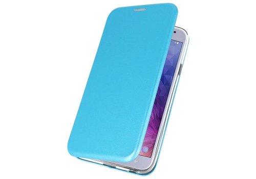 Slim Folio Case voor Galaxy J4 2018 Blauw