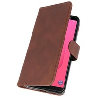 Bookstyle Wallet Cases Hoesje voor Galaxy J8 Mocca