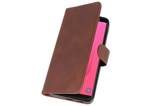 Bookstyle Wallet Cases Hoesje voor Galaxy J8 Mocca