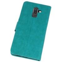 Bookstyle Wallet Cases Hoesje voor Galaxy J8 Groen