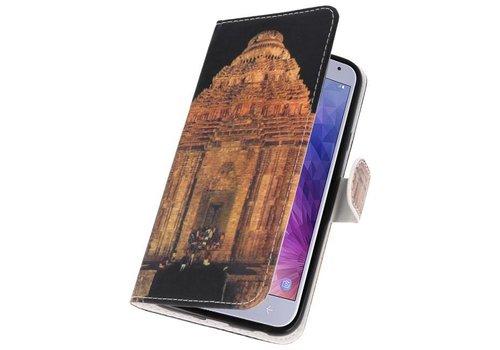 Temple 2 Bookstyle Hoesje voor Galaxy J4 2018