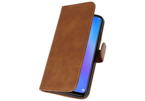 Bookstyle Wallet Cases Hoes voor Huawei P Smart 2019 Bruin