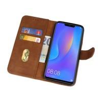 Bookstyle Wallet Cases Hoes voor Huawei P Smart 2019 Bruin