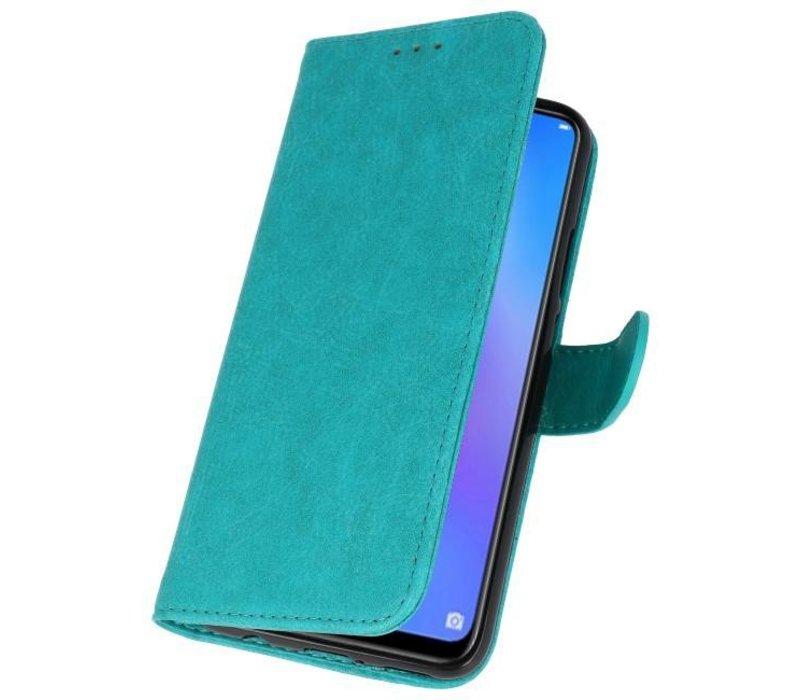 Bookstyle Wallet Cases Hoes voor Huawei P Smart 2019 Groen