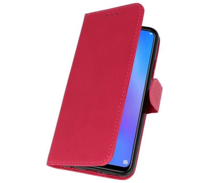 Bookstyle Wallet Cases Hoes voor Huawei P Smart 2019 Rood