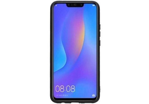 Hexagon Hard Case voor Huawei P Smart Plus Bruin