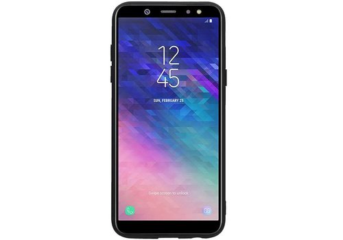 Hexagon Hard Case voor Samsung Galaxy A6 2018 Zwart