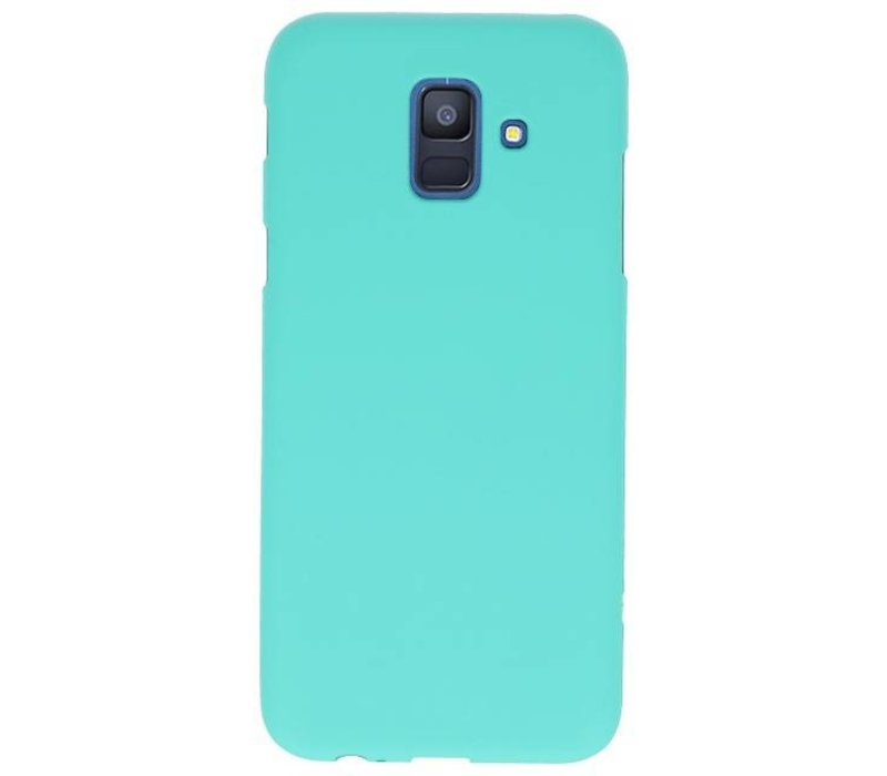 Color TPU Hoesje voor Samsung Galaxy A6 2018 Turquoise