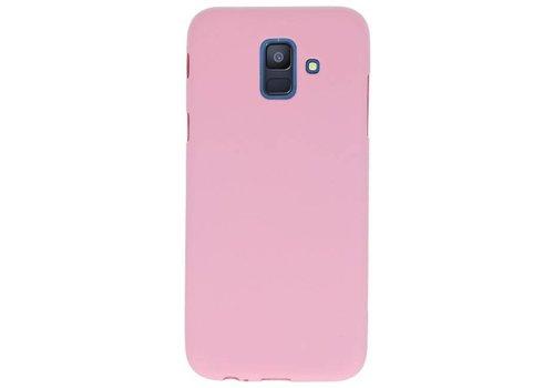 Color TPU Hoesje voor Samsung Galaxy A6 2018 Roze